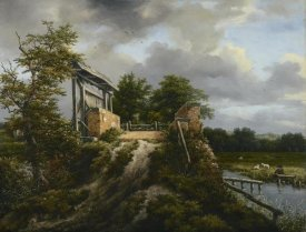 Jacob van Ruisdael - Bridge with a Sluice