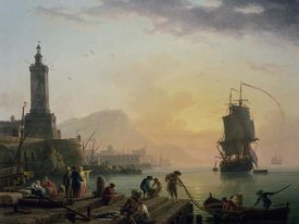 Claude-Joseph Vernet - A Calm at a Mediterranean Port