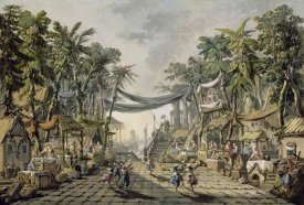 Jean-Baptiste Pillement - Market Scene in an Imaginary Oriental Port