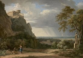Pierre-Henri de Valenciennes - Classical Landscape with Figures and Sculpture