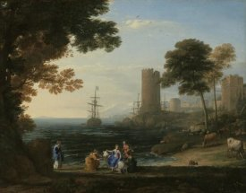 Claude Lorrain - Coast View with the Abduction of Europa