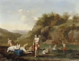 Cornelis van Poelenburgh - Landscape with Bathing Nudes