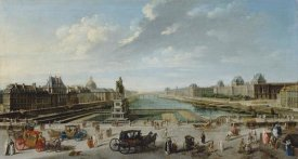 Jean-Baptiste Raguenet - A View of Paris from the Pont Neuf