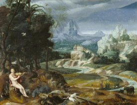 Unknown 16th Century Flemish Painter - Landscape with Orpheus