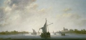 Aelbert Cuyp - A View of the Maas at Dordrecht