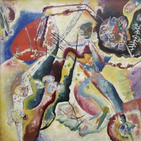 Wassily Kandinsky - Painting with a Red Spot (Bild mit rotem Fleck), 1914