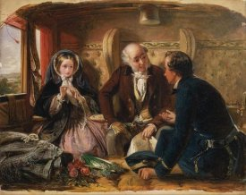 Abraham Solomon - First Class - The Meeting, 1855