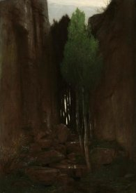 Arnold Boulin - Quell in einer Felsschlucht (Spring in a Narrow Gorge)