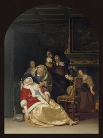 Frans van Mieris - The Doctor's Visit