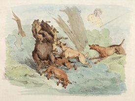 Henry Thomas Alken - Hunting Dogs Attacking A Bear, 1817