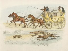 Henry Thomas Alken - People On A Carriage Watching Dogs Chasing A Rabbit, 1817