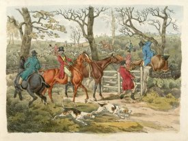 Henry Thomas Alken - Sportsmen Within An Enclosure, 1817