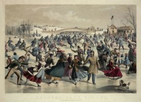 Currier and Ives - Central-Park, Winter - The Skating Pond,  New York, 1862