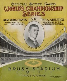 Stevens - Offical Score Card  World's Championship Series -  New York Giants vs Philadelphia Athletics, 1880