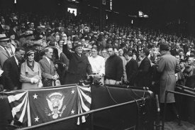 Harris and Ewing Collection (Library of Congress) - Franklin D. Roosevelt at Baseball Game, 1932 or 1933