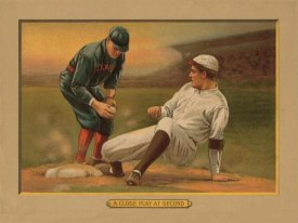 American Tobacco Company - A Close Play at Second, Baseball Card