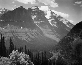 Ansel Adams - Snow Covered Mountains, Glacier National Park, Montana - National Parks and Monuments, 1941