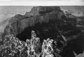 Ansel Adams - Close-in view of curred cliff, Grand Canyon National Park, Arizona, 1941