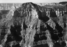 Ansel Adams - Close-in view taken from opposite of cliff formation, high horizon, Grand Canyon National Park, Arizona, 1941