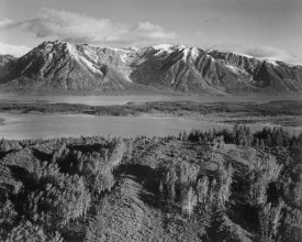 Ansel Adams - View across river valley, Grand Teton National Park, Wyoming, 1941