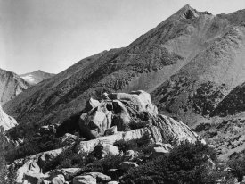 Ansel Adams - Peak near Rac Lake, Kings River Canyon, proposed as a national park, California, 1936