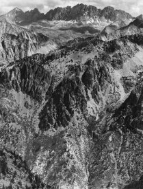 Ansel Adams - North Palisades from Windy Point, Kings River Canyon, proposed as a national park, California, 1936