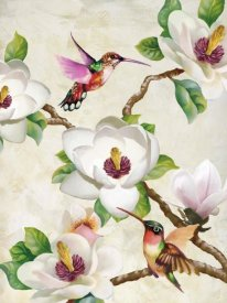Terry Wang - Magnolia and Humming Birds