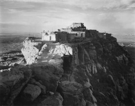 Ansel Adams - Full view of the city on top of mountain, Walpi, Arizona, 1941