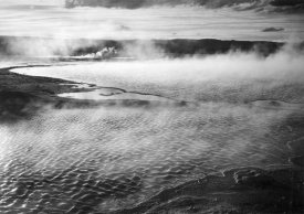 Ansel Adams - Surface of water presents a different texture in Fountain Geyser Pool, Yellowstone National Park, Wyoming, ca. 1941-1942
