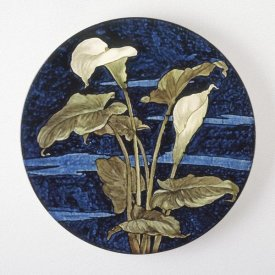 Unknown 19th Century American Artisan - Charger - Calla Lily Pattern