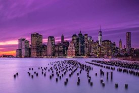 J.G. Damlow - New York Violet Sunset