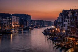 Karen Deakin - Venice Grand Canal At Sunset