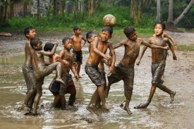 Angela Muliani Hartojo - Playing Football