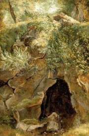 Pierre Etienne Theodore Rousseau - The Cave