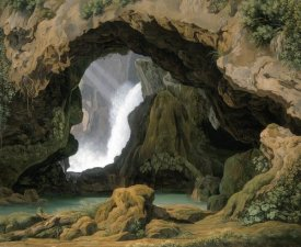 Johann Martin von Rohden - The Grotto of Neptune in Tivoli