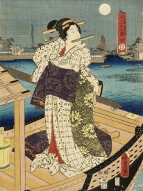 Utagawa Kunisada (Toyokuni III) - Costumes in Five Different Colors - White (Shiro)