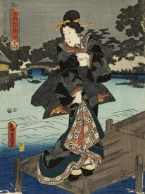 Utagawa Kunisada (Toyokuni III) - Costumes in Five Different Colors - Black (Kuro)
