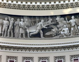 Carol Highsmith - Wright Brothers frieze in U.S. Capitol dome, Washington, D.C.
