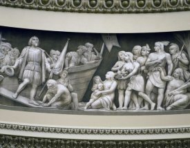 Carol Highsmith - Landing of Columbus frieze in U.S. Capitol dome, Washington, D.C.