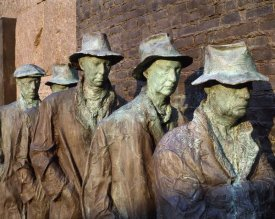 Carol Highsmith - Breadline, F.D.R. Memorial, Washington, D.C.