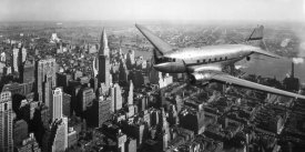 Anonymous - DC-4 over Manhattan, NYC
