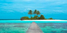 Pangea Images - Jetty and Maldivian island