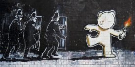 Anonymous - Stokes Croft Road, Bristol (graffiti attributed to Banksy)