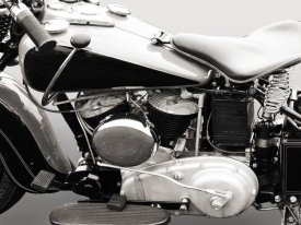 Gasoline Images - Vintage American V-Twin engine (detail)