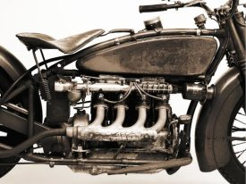 Markus Cuff - Detail of 4 cylinder Indian Ace, 1929