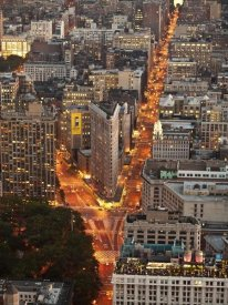 Michel Setboun - Aerial view of Flatiron Building, NYC