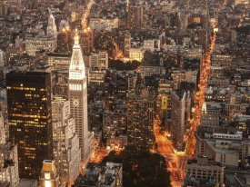 Michel Setboun - Aerial view of Manhattan with Flatiron Building, NYC
