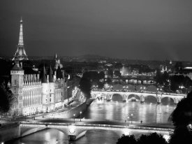 Michel Setboun - Paris and Seine river at night