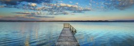 Frank Krahmer - Boat ramp and filigree clouds, Bavaria, Germany