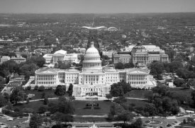 Carol Highsmith - Aerial view, United States Capitol building, Washington, D.C. - Black and White Variant
